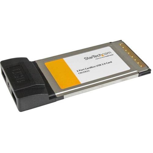StarTech.com 2-port CardBus Laptop USB 2.0 PC Card Adapter