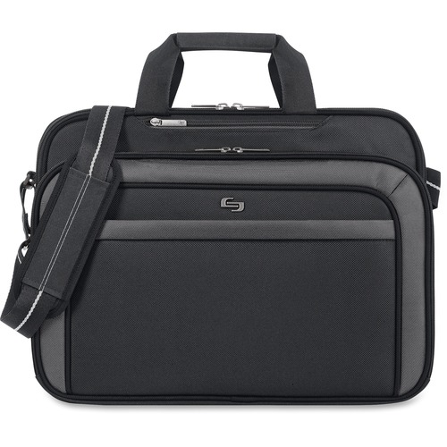 """Solo Sterling Carrying Case (Briefcase) for 17"""" Notebook - Black"""