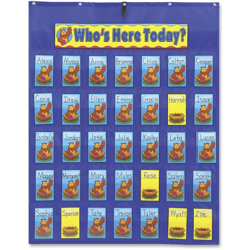 Carson PreK-Gr 5 Attendance/Multiuse Pocket Chart | by Plexsupply