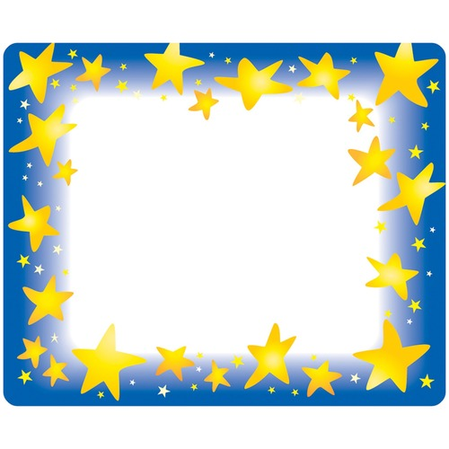 Trend Star Bright Self-adhesive Name Tags | by Plexsupply