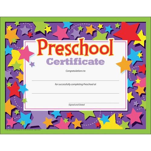 Trend Preschool Certificate | by Plexsupply
