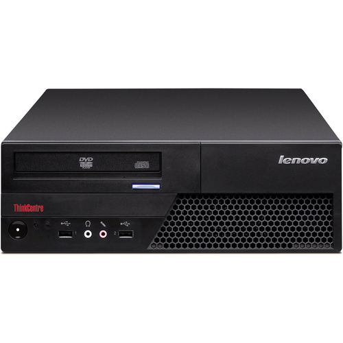 Lenovo ThinkCentre M58 7638A2U Desktop Computer - Intel Core 2 Duo E7500 2.93 GHz - Small Form Factor - Black