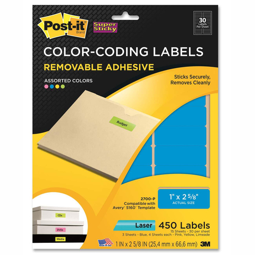 3M Super Sticky Color Coding Label