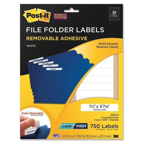3M Super Sticky File Folder Label