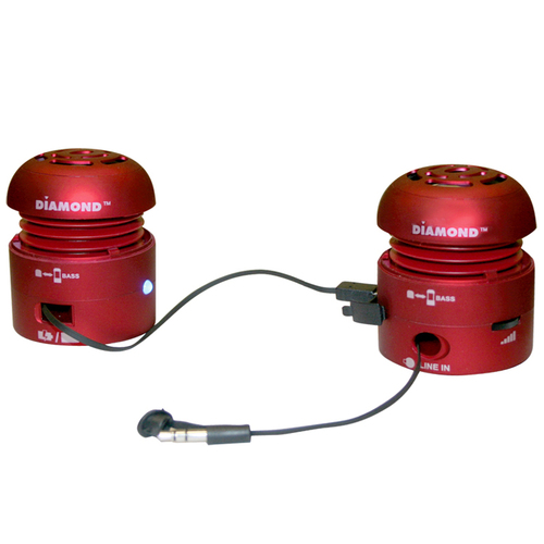 Best Data MSP100R Speaker System - 4 W RMS - Red
