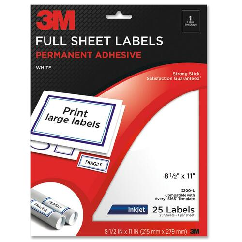 3M Full Sheet Address Label