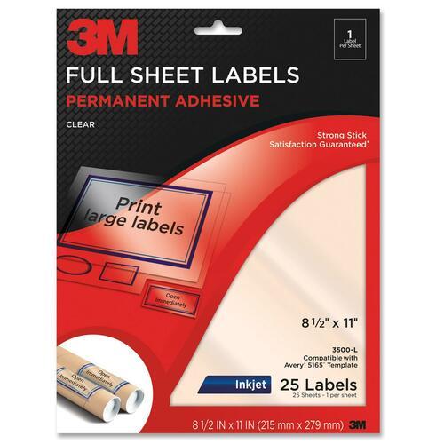 3M Full Sheet Address Label
