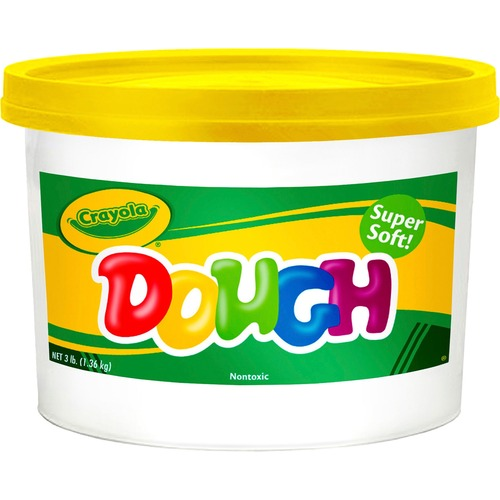 Modeling Dough Bucket, 3 lbs, Yellow | by Plexsupply