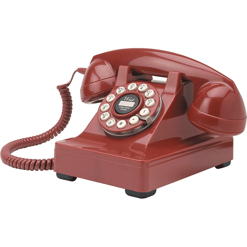Crosley CR60-RE 302 Red Desk Phone