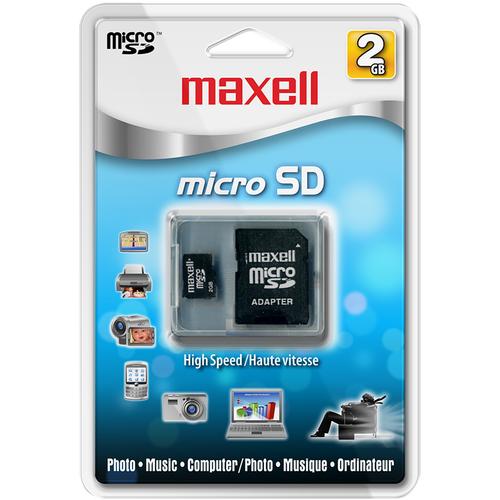 Maxell MCSD-102 2 GB microSD - 1 Card/1 Pack