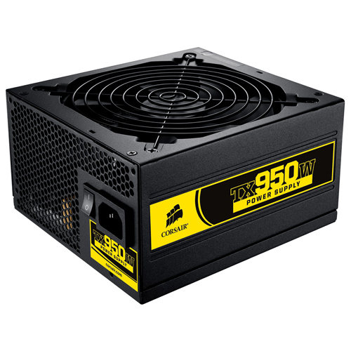 Corsair Memory TX950W ATX12V & EPS12V Power Supply - 85%