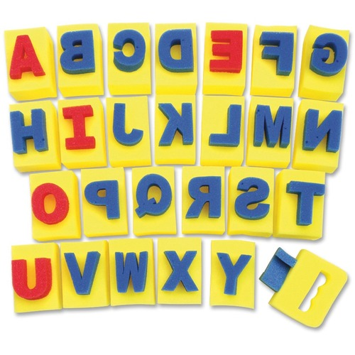 Chenille Kraft Alphabet Paint Handle Sponges   by Plexsupply