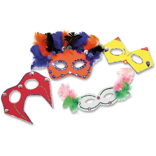 Chenille Kraft Foam Party Masks Craft Kit | by Plexsupply