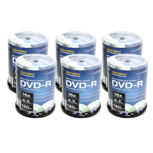 Aleratec Inc 230119 DVD Recordable Media - DVD-R - 16x - 4.70 GB - 600 Pack Spindle