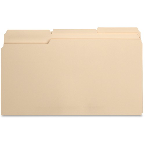 Bus. Source 1/3 Cut 1-ply Top Tab Manila Folders | by Plexsupply