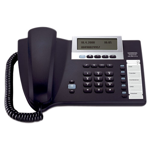 Siemens Gigaset DE380 IP R IP Phone - Wired - Anthracite - 1 x Total Line - VoIP - Caller IDNetwork (RJ-45)