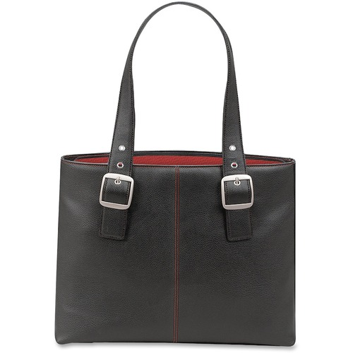 """Solo Classic Carrying Case (Tote) for 16"""" Notebook - Black, Red"""