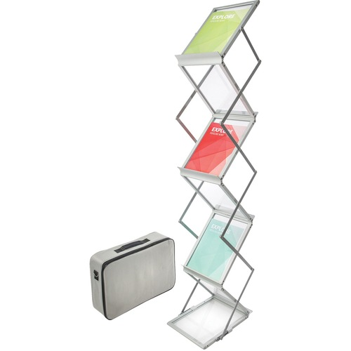 Deflecto Collapsible Literature Floor Stand | by Plexsupply
