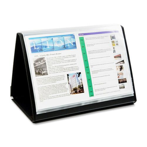 Lion Office Products Flip-N-Tell Display Book-N-Easels