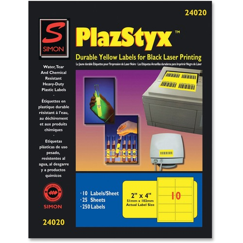 SJ Paper PlazStyx Durable Laser Printing Labels | by Plexsupply