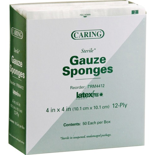 Medline CARING Woven Gauze Sponge