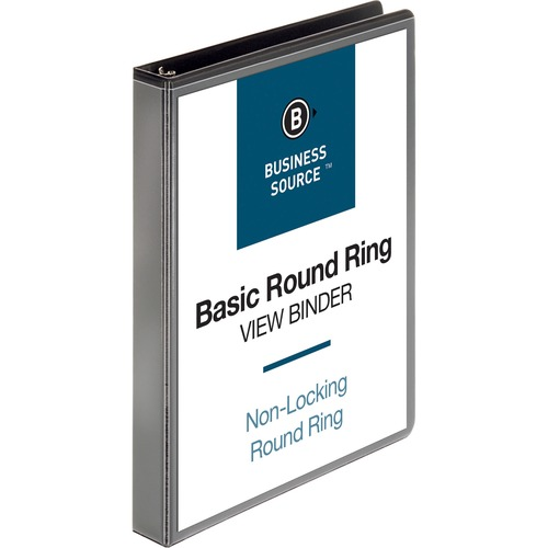 Business Source 1 Inch Round-ring View Binder