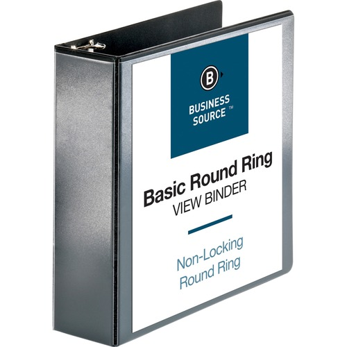 Bus. Source Round-ring View Binder | by Plexsupply