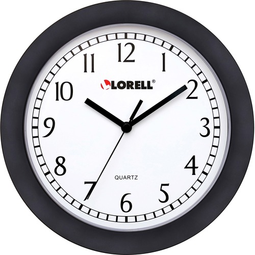 "Lorell 9"" Round Profile Wall Clock 