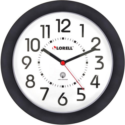 "Lorell 9"" Radio Controlled Profile Wall Clock 