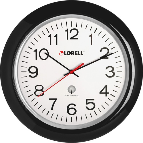"Lorell 13-1/4"" Radio Controlled Wall Clock 