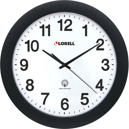 "Lorell 12"" Round Radio Controlled Wall Clock 