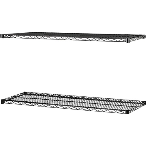 Lorell Black Industrial Wire Shelving | by Plexsupply