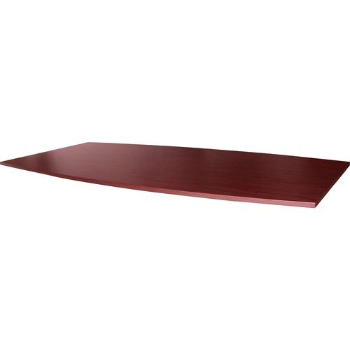 Lorell Essentials Mahogany Boat-shape Tabletop | by Plexsupply