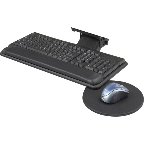 Safco Adjustable Keyboard Platform with Swivel Mouse Tray