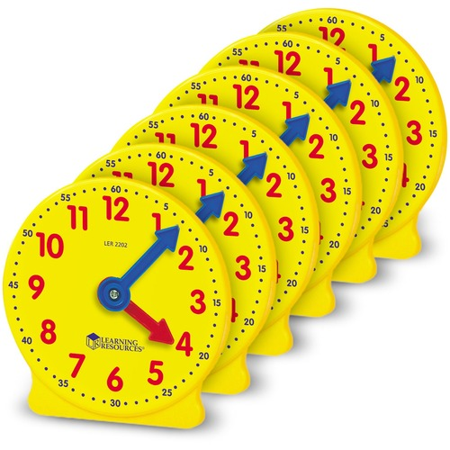 Learning Res. Pre K-4 Learning Clocks Set | by Plexsupply