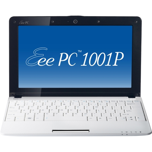 "Asus Eee PC 1001P-MU17 10.1"" LED Netbook - Atom N450 1.66 GHz - White"