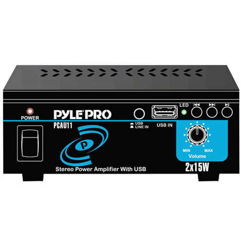 Pyle PCAU11 Amplifier - 15 W RMS