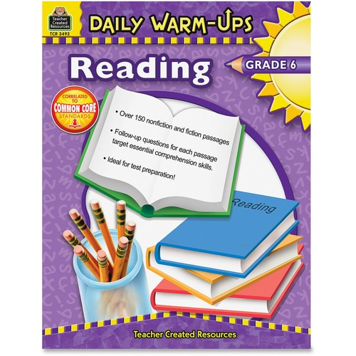 Teacher Created Res. Warm-up Grade 6 Reading Rook  | by Plexsupply