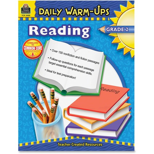 Teacher Created Res. Warm-up Grade 2 Reading Rook  | by Plexsupply