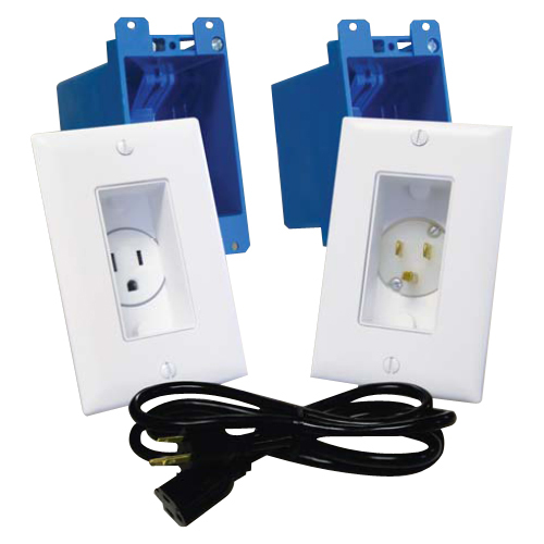 Midlite A46-I Single Gang Dcor In-Wall Power Solution Kit