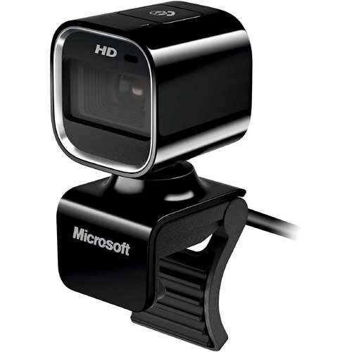 Microsoft LifeCam HD-6000 Webcam - Coal Black