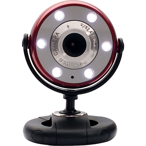 Gear Head WC1200RED Webcam - Red Black