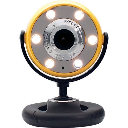 Gear Head WC1400YLW Webcam - Yellow Black