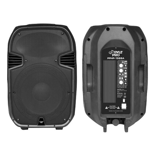 Pyle PPHP1588A 1000 Watts 15'' Two-Way Active/Powered Plastic Molded Speaker System