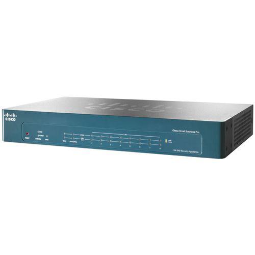Cisco SA 540 Firewall Appliance - 10 Port - Firewall Throughput: 300 Mbps - VPN Throughput: 85 Mbps