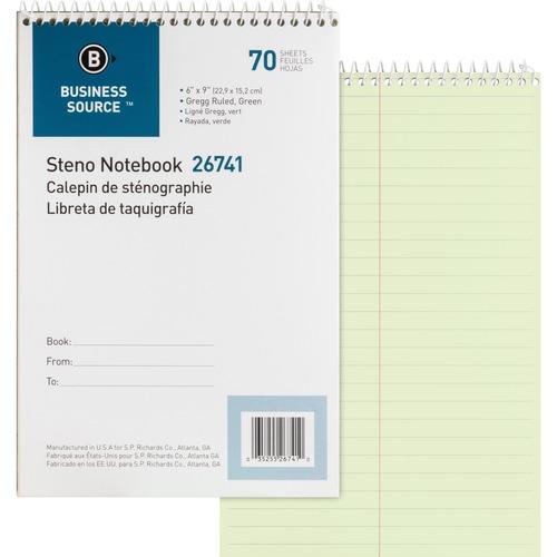 Bus. Source Wirebound Steno Note Book | by Plexsupply