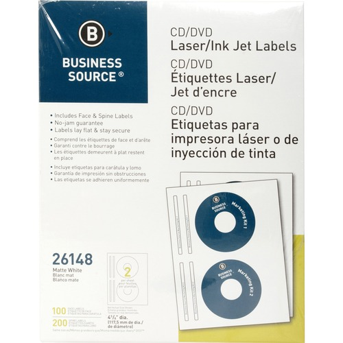 Bus. Source Laser/Inkjet CD/DVD Labels | by Plexsupply