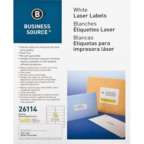 "Bus. Source 1-1/3""x4"" Address Labels 