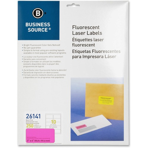 "Bus. Source 2"" Fluorescent Color Laser Labels 