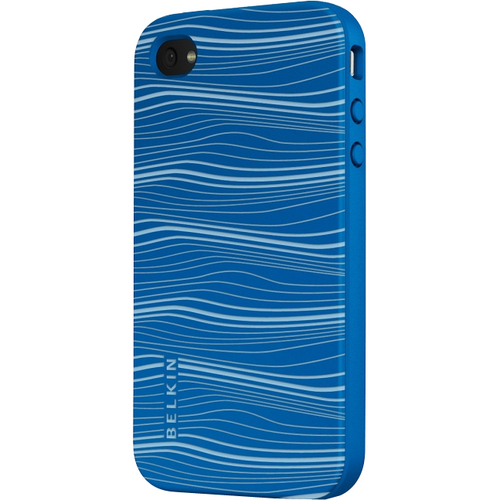 Belkin Grip Ergo F8Z624TT Smartphone Case - Thermoplastic Polyurethane - Vivid Blue